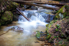Autumn brook waterfall Royalty Free Stock Images