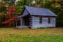 Autumn, Brush Mountain Schoolhouse. Fall in the Cumberland Gap National and Historic Park. This is the old Brush Mountain Schoolhouse located in the Hensley Stock Images
