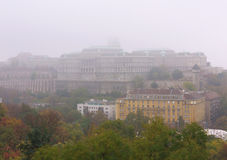 Autumn in Budapest. Buda Castle in the autumn fog, Budapest, Hungary Stock Photography