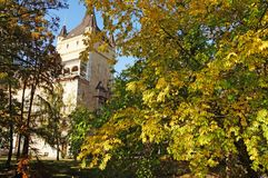 Autumn Budapest Vajdahunyad Mittelalterliches Budapest Lizenzfreies Stockbild