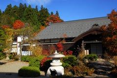 Autumn Buddhist-Tempel lizenzfreies stockfoto