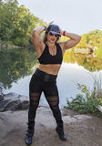 Autumn and Buff Female Beauty in Central Park Royalty Free Stock Images