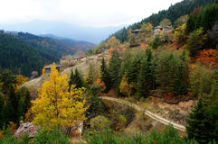 Autumn. Bulgaria.Autumn in the mountains. Old houses Stock Images