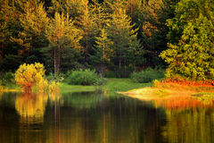 Autumn bulgarian lake Royalty Free Stock Photo