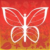 Autumn Butterfly Abstract Art Wallpaper illustration de vecteur