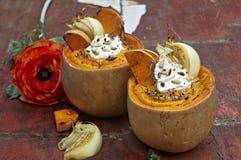 Autumn butternut cream soup Stock Photo