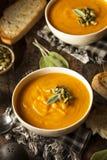 Autumn Butternut Squash Soup caseiro Fotos de Stock Royalty Free