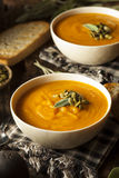 Autumn Butternut Squash Soup caseiro Imagens de Stock
