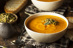 Autumn Butternut Squash Soup fait maison Images stock