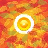 Autumn button Royalty Free Stock Photo