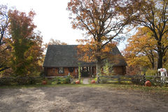 Autumn Cabin Royalty Free Stock Images