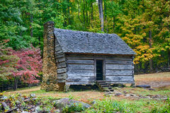 Autumn Cabin Stock Photography