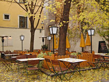 Autumn cafe Royalty Free Stock Photography