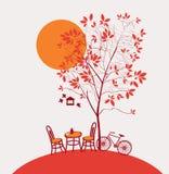 Autumn cafe Royalty Free Stock Image