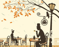 Autumn cafes Stock Image