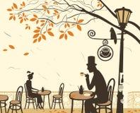 Autumn cafes Stock Image