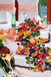 Autumn cake for wedding Royalty Free Stock Photography