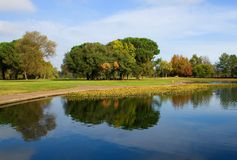 Autumn in California. Reflection in the lake Royalty Free Stock Photo