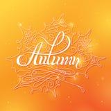 Autumn Calligraphic Background illustrazione di stock