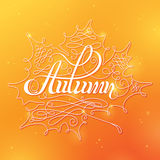 Autumn Calligraphic Background Photo stock