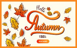 Autumn calligraphy banner Stock Images