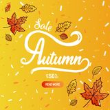 Autumn calligraphy banner Royalty Free Stock Photos