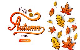 Autumn calligraphy banner Stock Photo
