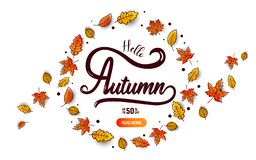 Autumn calligraphy banner Stock Photography