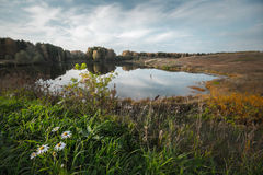 Autumn calm lake Royalty Free Stock Image