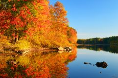 Autumn Calm In New England Imagem de Stock Royalty Free