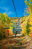 Autumn in Canada. Massif Ski Resort near Quebec city, Canada in October Royalty Free Stock Photo