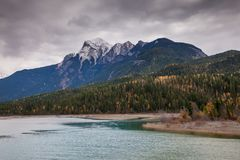 Autumn in the Canadian Rocky Mountains of British Columbia royalty free stock photos