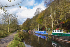 Autumn on the canal Royalty Free Stock Photos