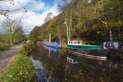 Autumn on the canal Royalty Free Stock Photography