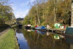 Autumn on the canal Stock Photos