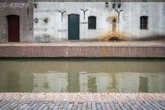 Autumn Canal cambiante en los Países Bajos fotografía de archivo