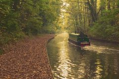 Autumn canal scene Royalty Free Stock Image