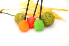 Autumn Candies. Candy with fruit flavor, food and color  concept Royalty Free Stock Photo