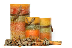 Autumn candle display Royalty Free Stock Image