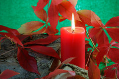 Autumn Candle Royalty Free Stock Images