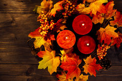 Autumn candles Stock Photography