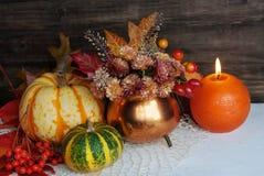 Autumn candles Royalty Free Stock Photos