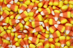 Autumn Candy Corn Candy Background stockfotos