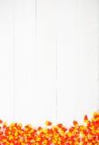 Autumn: Candy Corn Halloween Background Stock Image