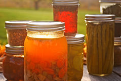 Autumn Canned Goods Stock Photo