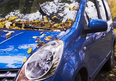 An autumn car Stock Image