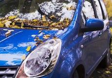 An autumn car stock image