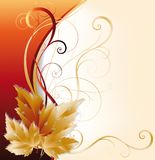 Autumn card,  Royalty Free Stock Photography