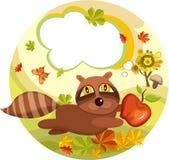 Autumn card Stock Image