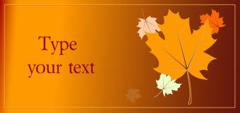 Autumn card Stock Photos